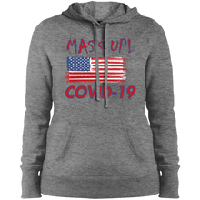 Mask Up !-Ladies' Pullover Hooded Sweatshirt