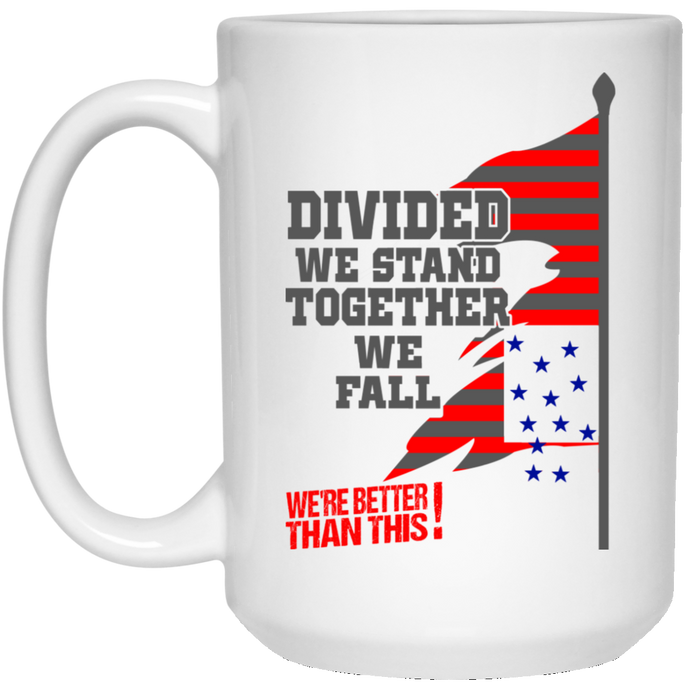 Divided-15 oz. White Mug-Drinkware