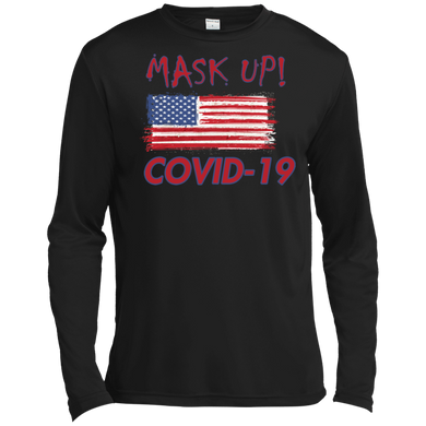 Mask Up !-TST350LS Tall Long Sleeve Moisture Absorbing T-Shirt