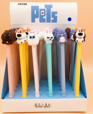 3 pcs/lot The Party of Pets Gel Ink Pen Promotional Gift Stationery -Gadget