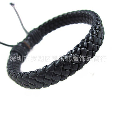 Men ,Women#39;s Wrap Braided Leather Bracelet-Unisex