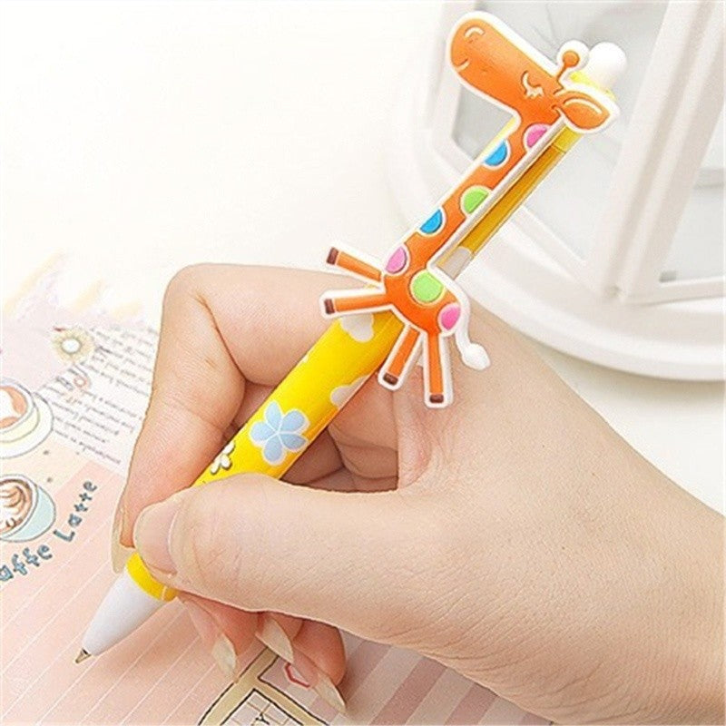 1pc Cute Cartoon Giraffe Ballpoint Pens Blue Ink Kids Toy School Office Stationary -Gadget