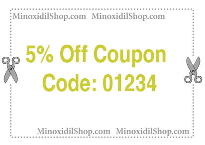 Minoxidil Shop Coupon - 5% Off Any Purchase