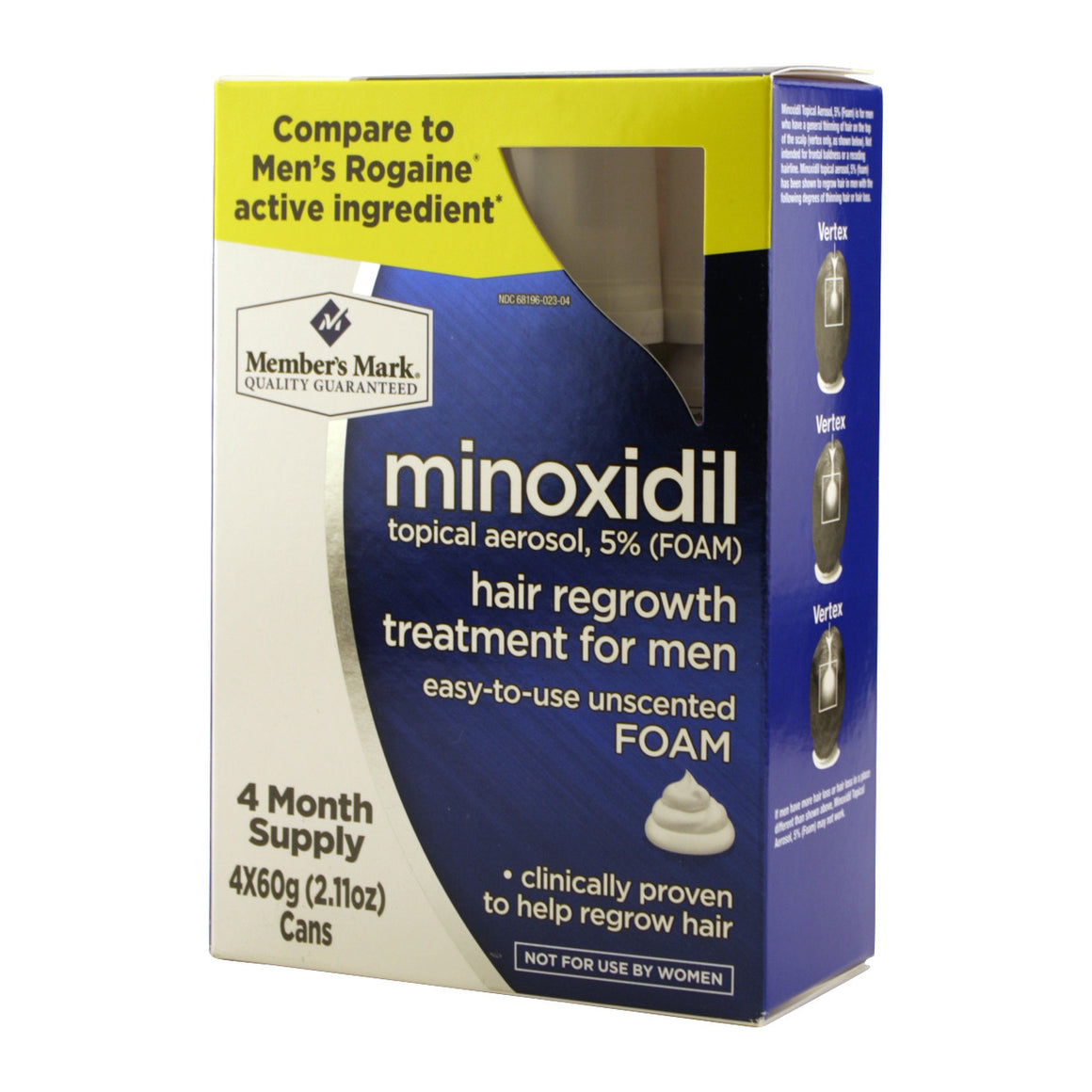 Generic Minoxidil Foam for Men Four Month Supply