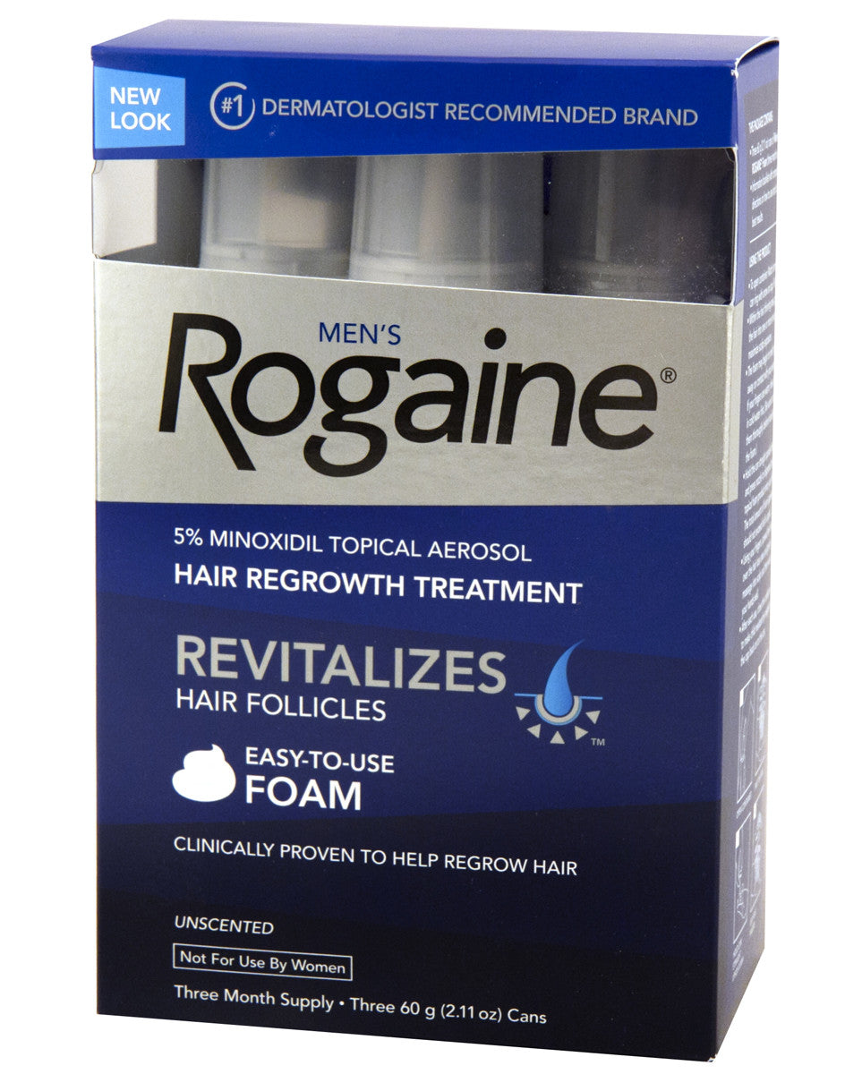 Rogaine Foam for Men Three Pack