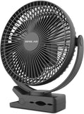 Rechargeable Battery Operated Clip on Fan