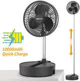 Rechargeable Battery Operated Folding Stand Fan