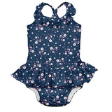 Swimsuit with Built-in Reusable Absorbent Swim Diaper