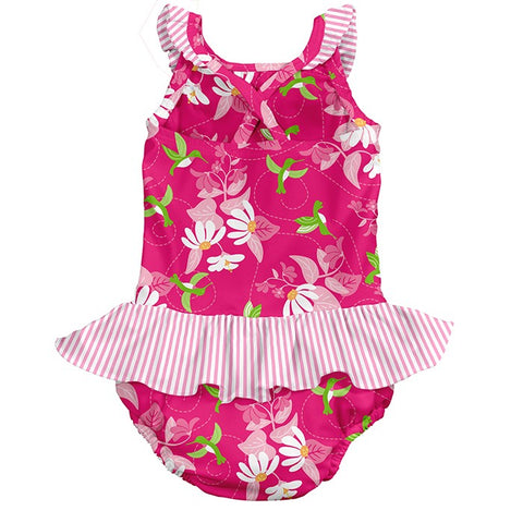 Swimsuit with Built-in Reusable Absorbent Swim Diaper 18 months