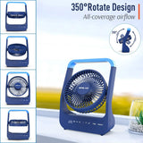 Rechargeable Battery Operated Camping/Desk Fan