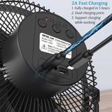 Rechargeable Battery Operated Desk Fan with Timer