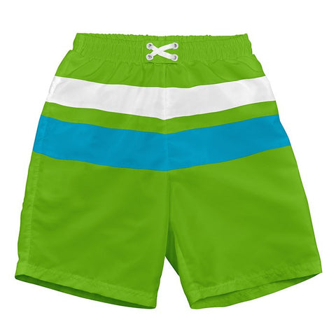 Swim Trunks with Built-in Reusable Absorbent Swim Diaper