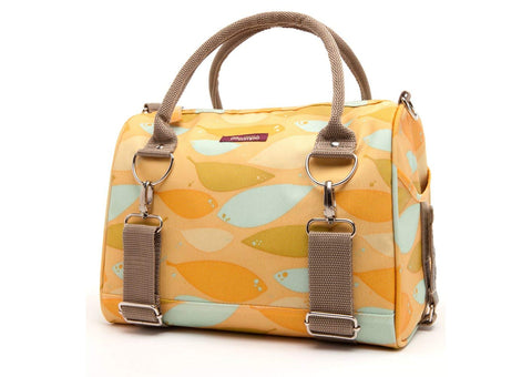 Logan Trunk Bag - Yellow Feathers