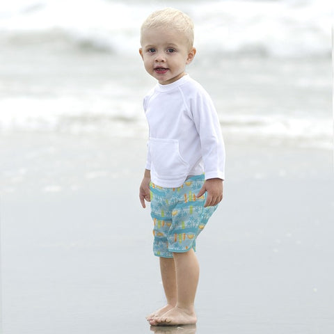 536d2bccf4 Baby Boy Pocket Board Shorts with Built-in Reusable Absorbent Swim Diaper