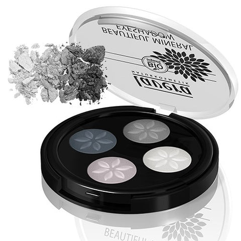 Lavera Beautiful Mineral Eyeshadow Quattro-Smokey Grey
