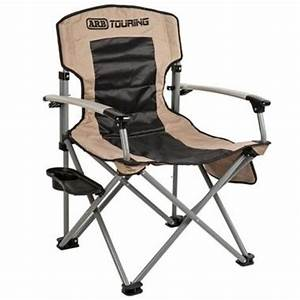 Camping Chair w/ Side Table - Tan