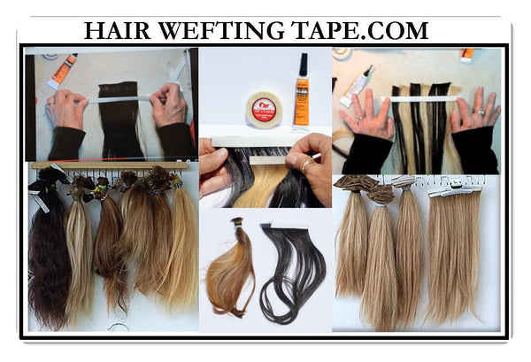How to put in tape in hair extensions yourself images hair hairweftingtape hairweftingtape easy to follow tutorials videos on how to make your own tape in hair pmusecretfo Images