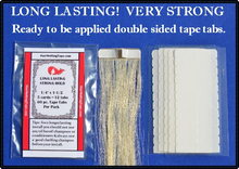 "Long Lasting 60 pc. Hair Extension Tape Tabs 5/16"" x 1-1/2"""