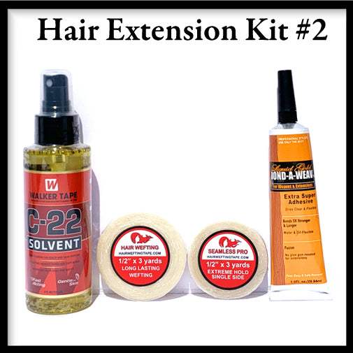 Hair Wefting Tape Hair Extension Kit2