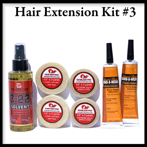Hair Wefting Tape Hair Extension Kit3