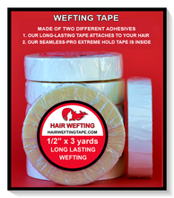 "Hair Wefting Tape™ Strong Bond Multi-Use Hair Extension Tape 1/2"" x 3 Yd"
