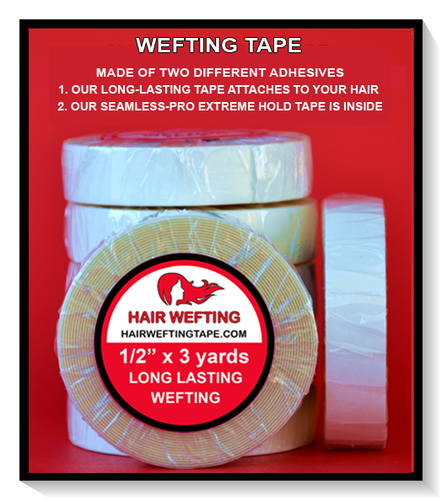 Hair Wefting Tape™ Strong Bond Multi-Use Hair Extension Tape 1/2
