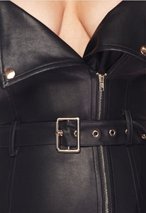The Royalty Leather Biker Girl Dress