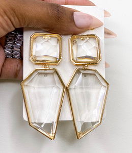 The Glam Her Iced Rock earring