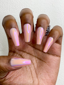 The Pink cotton Candy Metallic Press- On nails