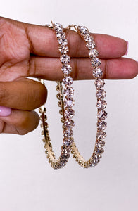 The Glitz Glam Hoop Earrings (Gold
