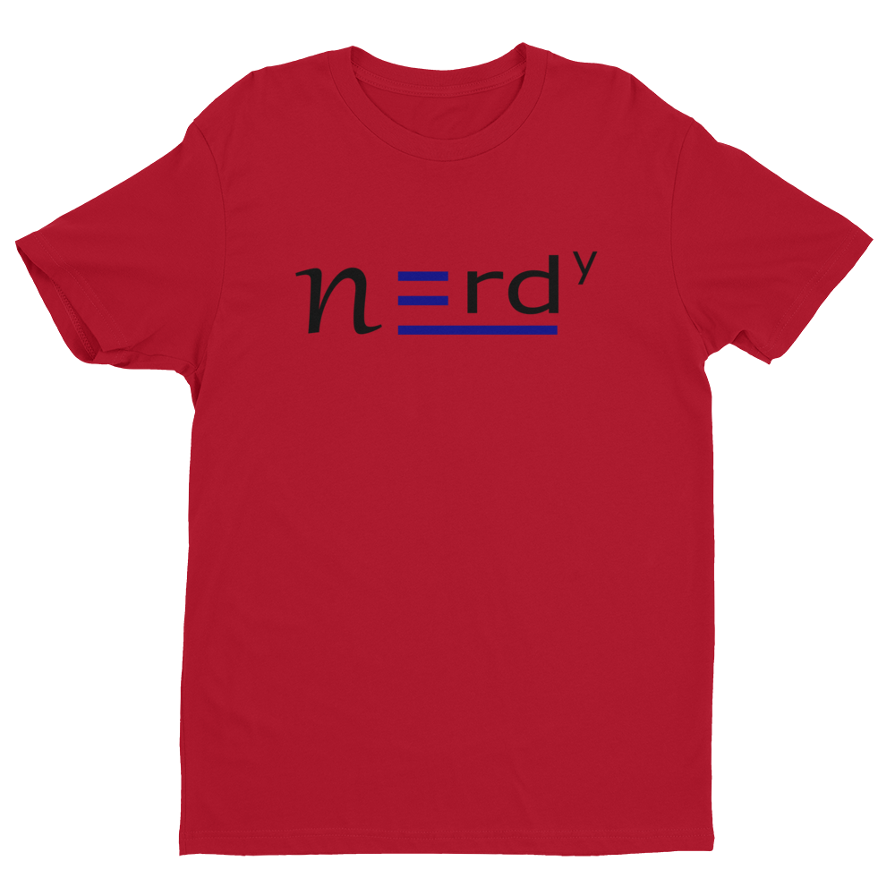 Nerdy Guy Signature Tee Blue and Black