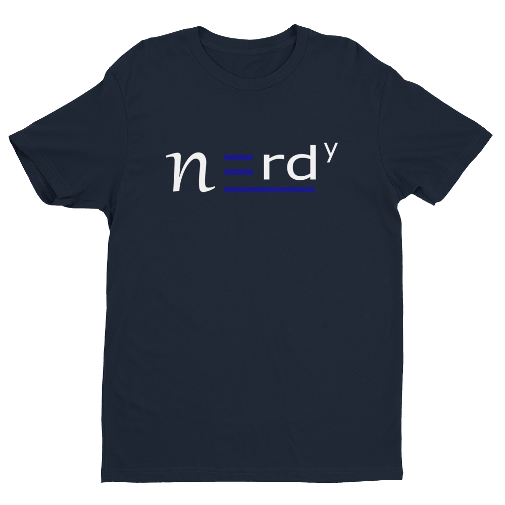 Nerdy Guy Signature Tee Blue and White
