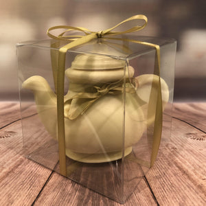 White Solid Chocolate Teapot - The Little Chocolate Teapot Company