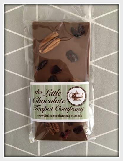 Milk Chocolate Cranberry & Pecan Bar - The Little Chocolate Teapot Company