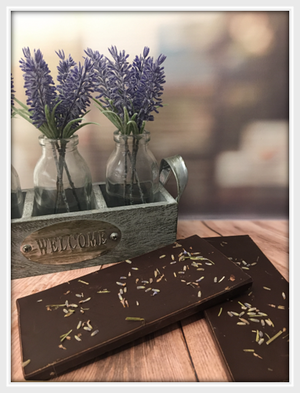 Dark Cotswold Lavender Bar - The Little Chocolate Teapot Company