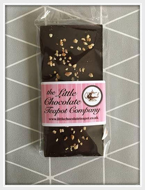 Dark Chocolate Hazelnut Bar - The Little Chocolate Teapot Company