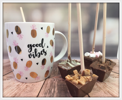 Hot Chocolate Stirrer Fudge (Milk) - The Little Chocolate Teapot Company