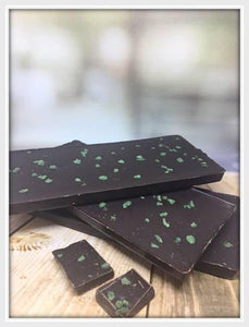Dark Chocolate Peppermint Bar - The Little Chocolate Teapot Company