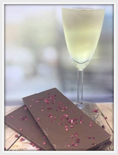 Milk Chocolate Raspberry & Champagne Bar - The Little Chocolate Teapot Company