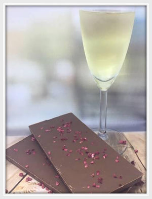 Milk Chocolate Raspberry & Champagne Bar