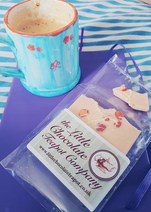 Pink Chocolate Strawberry & Cream Bar - The Little Chocolate Teapot Company