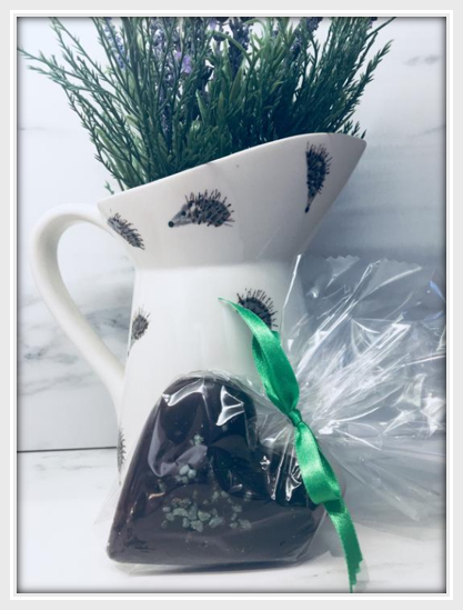 Peppermint Dark Chocolate Heart - The Little Chocolate Teapot Company