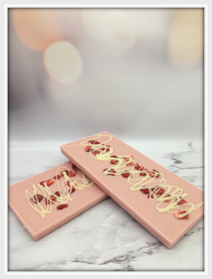 Pink Chocolate Strawberry & Cream Bar