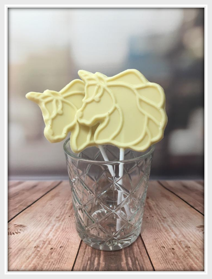 White Chocolate Unicorn Lollipop - The Little Chocolate Teapot Company