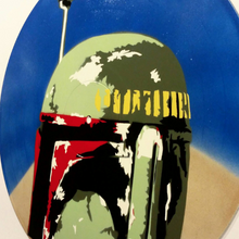 Star Wars Boba Fett Spray Paint and Stencil Vinyl Record Art