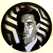 Twin Peaks Dale Cooper Kyle MacLachlan Spray Paint and Stencil Painting on Vinyl Record
