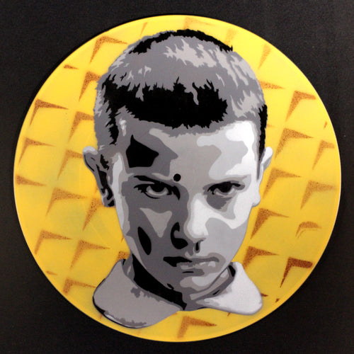 Eleven Stranger Things Eggo Spray Paint And Stencil Vinyl Record Art