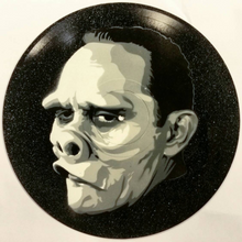 Eye of the Beholder The Twilight Zone Spray Paint and Stencil Vinyl Record Art