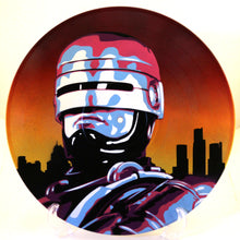 Robocop Peter Weller 80s Spray Paint and Stencil Painting on Vinyl Record