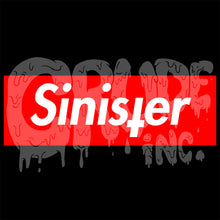 Sinister t-shirt, horror tshirt, Goth Tee, screen printed T shirt